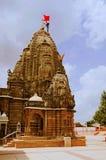 Hatkeshwar Mahadev, 17世纪寺庙, Nagar婆罗门家庭神外面看法  瓦德纳加尔,古杰雷特 免版税库存照片