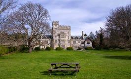 Hatley-Schloss, Kanada Lizenzfreies Stockfoto