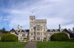 Hatley slott, Colwood, British Columbia Fotografering för Bildbyråer