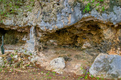 HATO, CURAÇAO - 2 DE NOVIEMBRE DE 2015: Cuevas de Hato imágenes de archivo libres de regalías