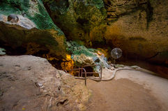 HATO, CURAÇAU - 2 DE NOVEMBRO DE 2015: As cavernas de Hato são cavernas da mostra e atração turística popular na ilha das Caraíba Fotografia de Stock Royalty Free