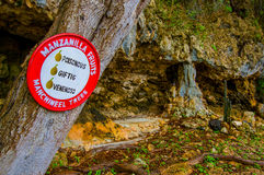 HATO, CURACAO - 2 NOVEMBER, 2015: Hato Caves Royalty Free Stock Photography