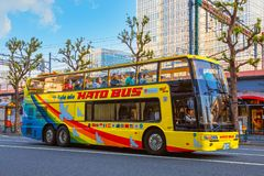 Hato - het sightseeingsbus van Tokyo stock fotografie