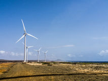 Hato Plains wind turbines Royalty Free Stock Images