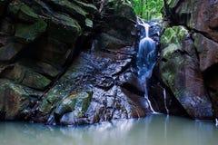 Hatob mini waterfall. Located in Borneo, Sabah, Malaysia Stock Photos
