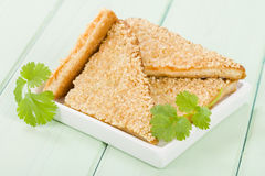 Hatosi (Prawn Toast) Stock Images