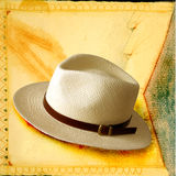 Hats 04. Italian hats on painted background Stock Image