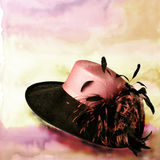 Hats 11. Italian hats on painted background Royalty Free Stock Photography