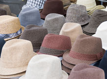 Hats. Stylish and trendy mens hats for sale Stock Photo
