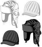 Hats. And caps. Vector ilustration Royalty Free Stock Image