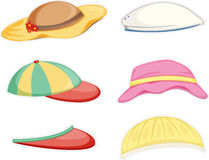 Hats. Illustration of a hats on a white background stock illustration