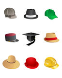 Hats. Collection, set and vector illustration vector illustration