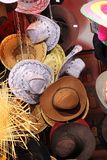 Hats. All kind of different hats sombrero and cowboy Stock Images