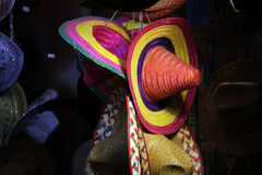 Hats. All kind of different hats sombrero and cowboy Royalty Free Stock Photo