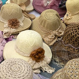 Hats. For sale on a stand Royalty Free Stock Photography