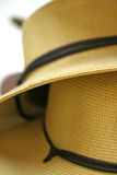 Hats. Macro of two hat brims royalty free stock photo