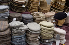 Hats. For sale French market Royalty Free Stock Images