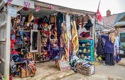 Hats and Accessories. A small market stall selling hats and various fashion accessories. Located in the local market bazaar where hand crafted goods and antiques royalty free stock images