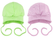 Hats for babies Stock Images