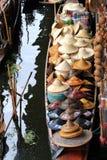 Hats on Boat Royalty Free Stock Photos