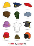 Hats and Caps Icon Collection 2 Stock Image