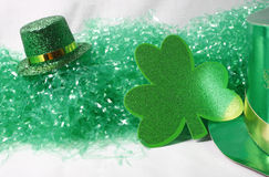 Hats & Clover Stock Photography
