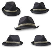 Hats collage. On the white Royalty Free Stock Photos