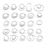 Hats collection Royalty Free Stock Photography