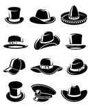 Hats collection set. Vector Stock Photography