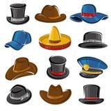 Hats collection set. Vector. Illustration stock illustration