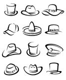 Hats collection set. Vector Stock Photo