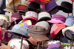Hats of different models Royalty Free Stock Image