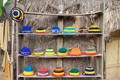 Hats of differnet colors Stock Photo