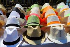 Hats on display Stock Photo
