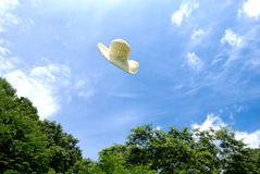 Hats fly Stock Photography