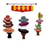 Hats for Gentlemen Stock Photography