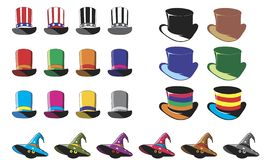 Hats. For witches. Vector format stock illustration