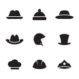 Hats icons set Royalty Free Stock Photo