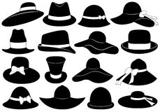 Hats illustration Royalty Free Stock Photos