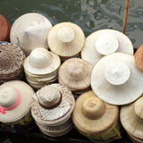 Hats made of bamboo leaves Stock Photos