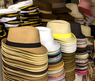 Hats in the market Royalty Free Stock Photography