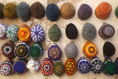 Hats market. A street market in the city of fez, morocco Stock Photography