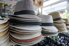 Hats at Market in Thailand Royalty Free Stock Photo