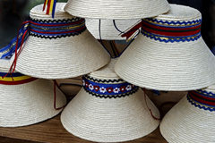 Hats for mens traditional romanian stock photo
