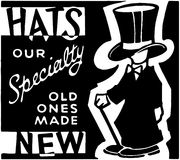 Hats Our Specialty Royalty Free Stock Images