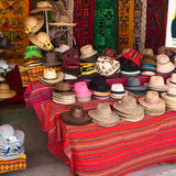 Hats Outside a Shop in Copacabana, Bolivia Stock Photos