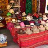Hats Outside a Shop in Copacabana, Bolivia Stock Photos