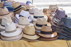 Hats for sale Royalty Free Stock Image