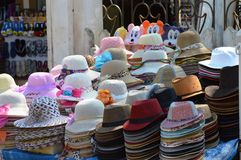 Hats for Sale Royalty Free Stock Photos