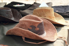 Hats for sale at the market Stock Photography